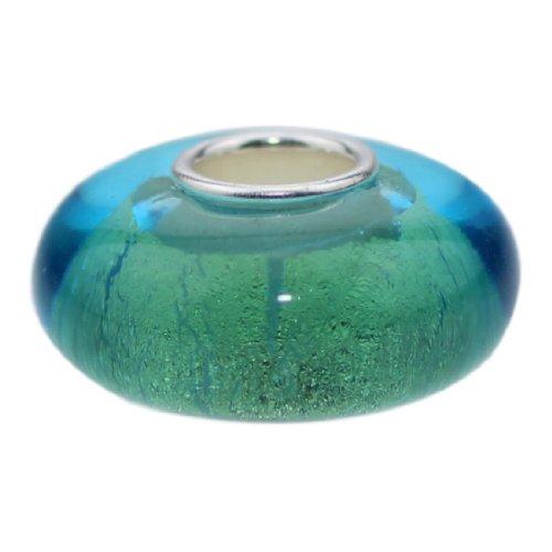 Beads Hunter - Ciondolo in argento Sterling 925, con vetro di Murano - Foil Ciondoli