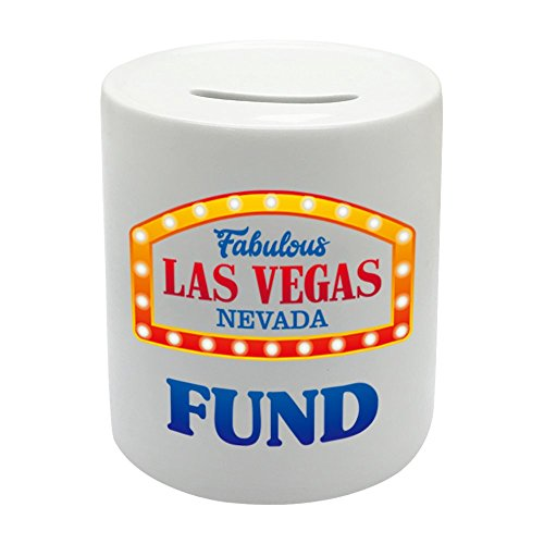 bs071Fabulous Las Vegas Nevada Hucha de cerámica regalo fondo impreso dinero caja de ahorro