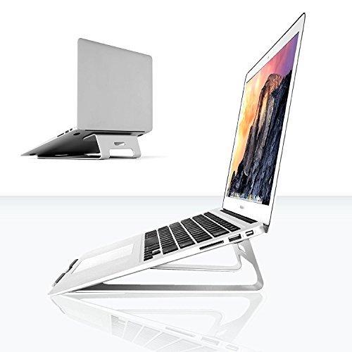 Abovetek supporto universale in alluminio color argento (27,9cm ~ 38,1cm)–raffreddante, resistente docking station pernotebook–evita problemi ad occhi, polsi, collo e spalla –Apple MacBook Air, Pro, iPad, tablet, Chromebook, PC.