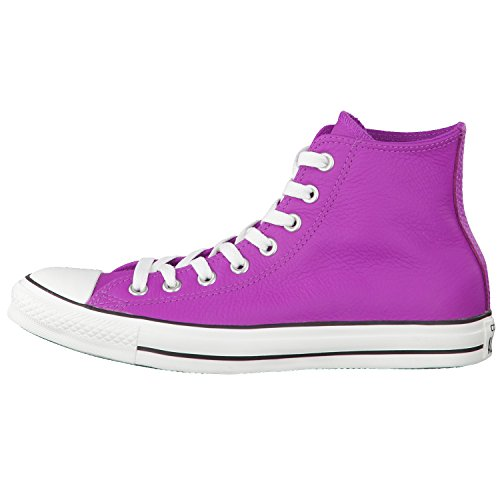 Converse All Star Hi Leather, Baskets mode femme Violet (Pourpre Cactus)