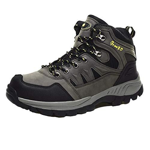 Scarpe da Trekking Uomo Donna Arrampicata Sportive All'Aperto Escursionismo Sneakers Invia Calze Esercito Verde 46 EU
