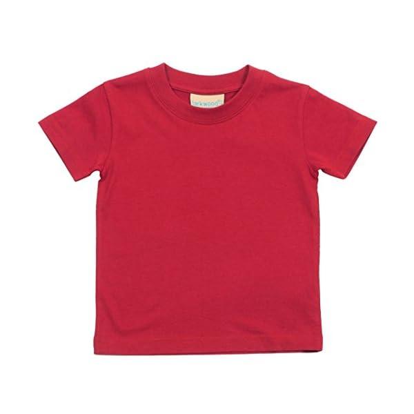 Larkwood- Camiseta de manga corta de cuello redondo para bebé (0-6 Meses, Jade) 5