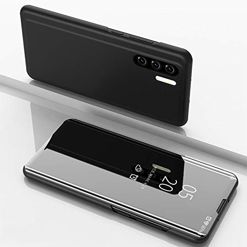 Coque Huawei P30 Pro Smart Miroir Cover Étui en Cuir Flip Sleep  All-Inclusive Anti-Fall Etui pour téléphone Mobile Étui Smart en Cuir  Housse de