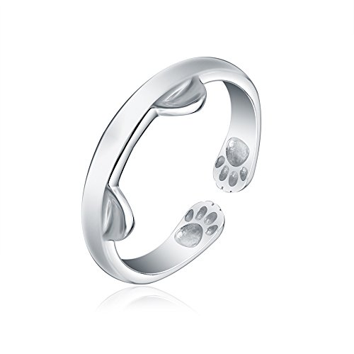 lureme® Women's Elegante 925 Sterling Argento Drago Gatto Rings Gotico Genuine Evening Partito Knuckle Anello (rg001806)
