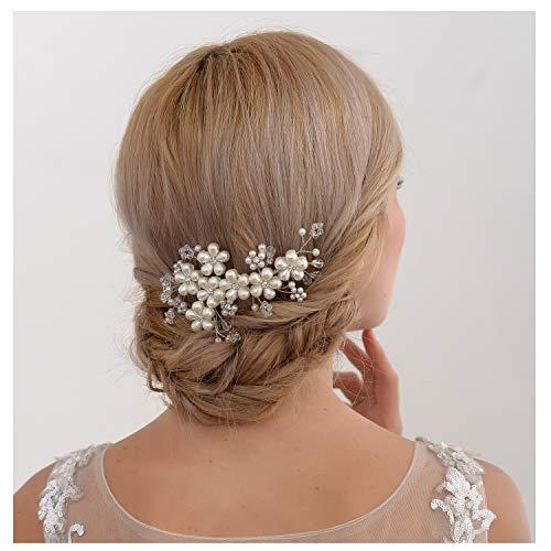 ULAPAN Hochzeit Braut Haarschmuck, Braut Stirnband,Hochzeit Haarstücke,Haarband,Haarstift,Haarkamm, HP42 (HP05-S)