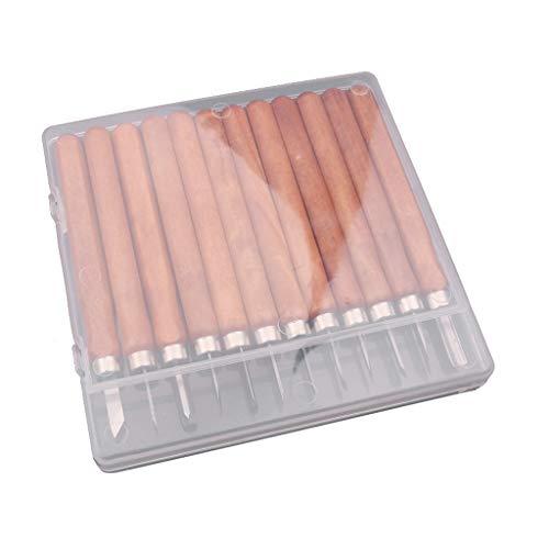 perfk 1 Stück Gravur Schneidwerkzeug Holzschnitzerei Hand Meißel für Anfänger oder professionelle