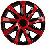 NRM KO237 Radzierblende Draco CS, Schwarz/Rot, 13 Zoll, 4er Set