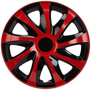 NRM ko240Copricerchi Universali Draco CS, Nero/Rosso, 16Pollici, Confezione da Pezz