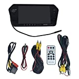 Auto Rückansicht Kit 7 Zoll LCD Bluetooth Spiegel Monitor mit Rückfahrkamera 170 ° Weitwinkel Objektiv Unterstützung Nachtsicht