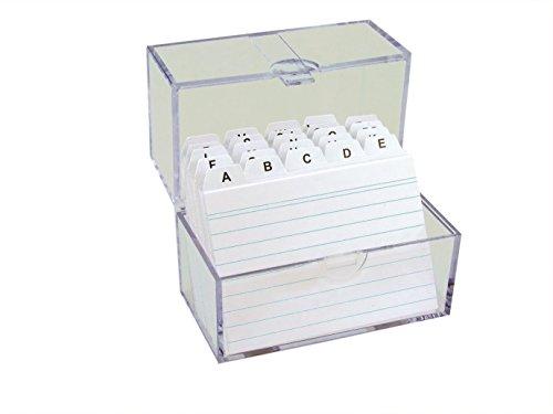 TSI Karteikasten DIN A7 gefüllt mit linierten Karteikarten