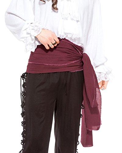 (Leintuch Pirat Mittelalter Renaissance Große Schärpe [C1417], C1417-Aubergine, Pink, C1417-Aubergine)