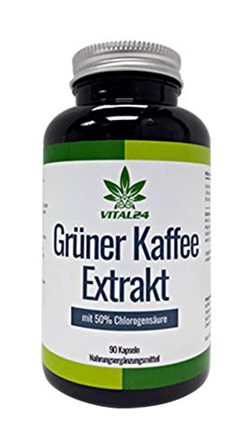 VITAL24™ - Grüner Kaffee Extrakt - 90 Kapsel - hochdosiert