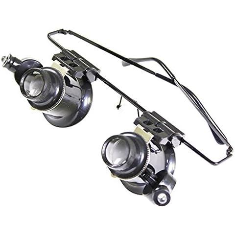 Anteojos de joyero con lupa 20x para reparación de relojes Luz LED de Kurtzy™