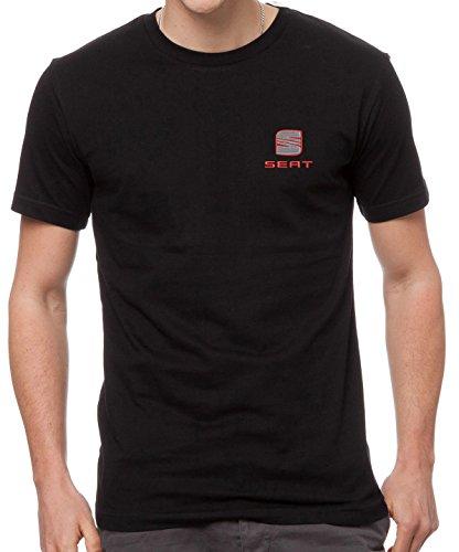 Seat T-Shirt Garni de Broderies la Voiture Super la qualité Prime, 100% Cotton - 4117 (XXL)