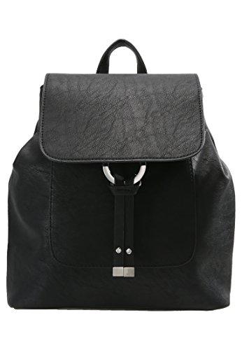 Anna Field Damen College Rucksack Tasche in Schwarz, One Size