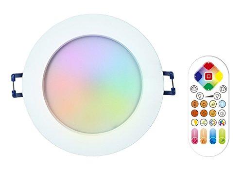 iHomma IP44 RGBWW Smart LED Einbaustrahler Bluetooth / WiFi / IR Kontrol Einbauspots Einbauleuchten mit Smartphone für Android / IOS Kostenlos APP Infrarot-Fernbedienung Dimmbar Mehrfabig 12W 220V (IR+RGBWW)