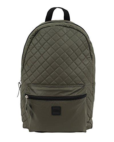 Zaino Urban Classics - Diamond Quilt Leather Backpack verde