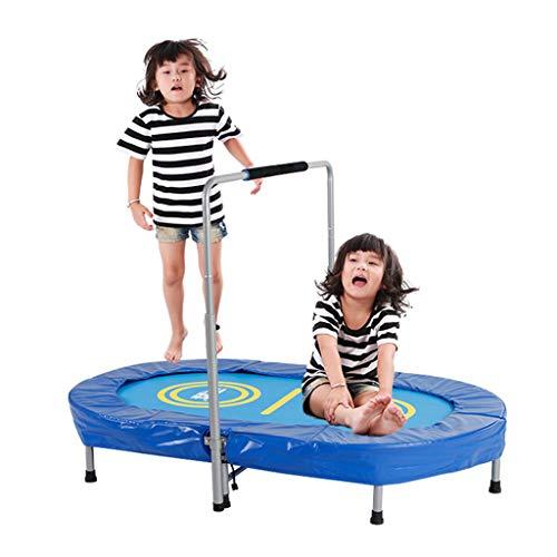 Trampolines d'extérieur Mini trampoline, double trampoline de divertissement pour enfants trampoline d'exercice de gymnastique à la maison trampoline à ressort pliant ovale trampoline élastique de per