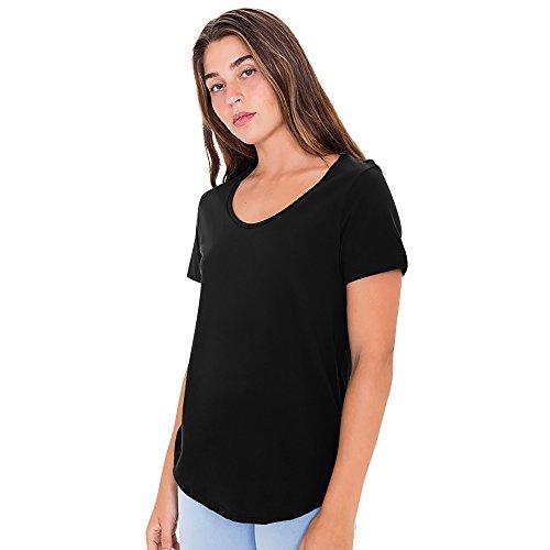 american-apparel-damen-ultra-wash-t-shirt-kurzarmlig-m-schwarz