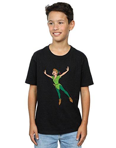 Disney Jungen Peter Pan Classic Flying Peter T-Shirt 5-6 Years Schwarz - Peter Kinder T-shirt Pan
