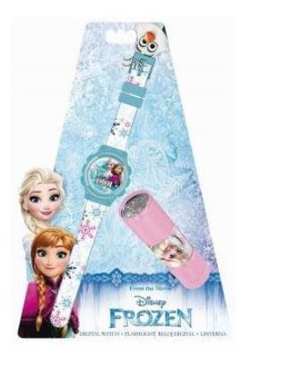 Disney Frozen- Reloj y Linterna en Blíster (Kids WD16847)