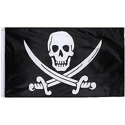 Bandera de Pirata para fiesta temática.