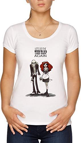 TIME WARP - Magenta Damen T-Shirt Weiß (Magenta Horror Rocky Aus Der)