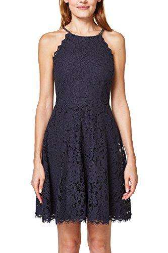 ESPRIT Collection Damen Kleid 048EO1E028, Blau (Navy 400), 38