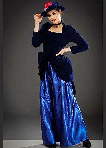Magic Box Int. Womens Royal Blue Victorian Damenkostüm Small (UK ()