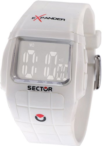 Sector Watches Watch Unisex in Plastic, forme Rectangle, ligne Expander, weight 58 grams