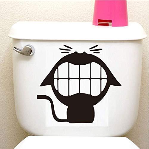artoon doggy wc aufkleber vinyl diywasserdicht selbstklebende bad büro hotel toilette 2ps ()