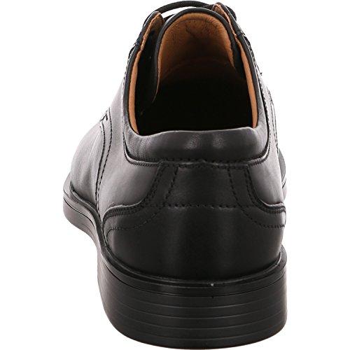 Clarks 261326778 02, Chaussures de Ville à Lacets Pour Homme Black Leather