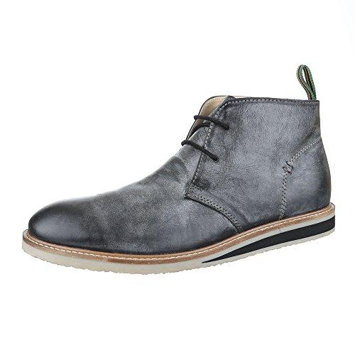 Ital-Design , Bottes Chelsea homme noir/gris