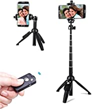 Selfie Stick Tripod,40 Inch Extendable Selfie Stick Tripod with Wireless Remote Control,Compatible with iPhone