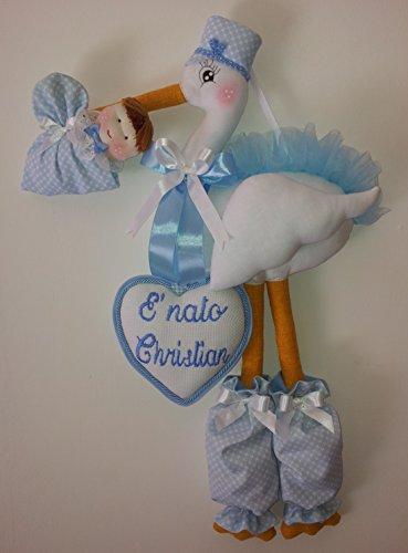 Polly b. fiocco nascita cicogna azzurro