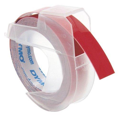 DYMO etichettatura strisce ciascuna, 23 MM, in plastica, colore: rosso su bianco 12742 per DYMO Omega 1755 Embossers-Mini-Jet, 1575 1540