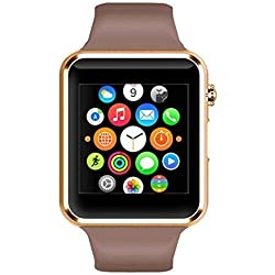 Certified Bluetooth APPLE 4G BLACK Wrist Watch Phone with Camera & SIM Card Support Hot Fashion New Arrival Best Selling Premium Quality Lowest Price with Apps like Facebook, Whatsapp, QQ, WeChat, Twitter, Time Schedule, Read Message or News, Sports, Health, Pedometer, Sedentary Remind & Sleep Monitoring, Better Display, Loud Speaker, Microphone, Touch Screen, Multi-Language, Compatible with Android iOS Mobile Tablet PC iPhone BY MOBIMINT -