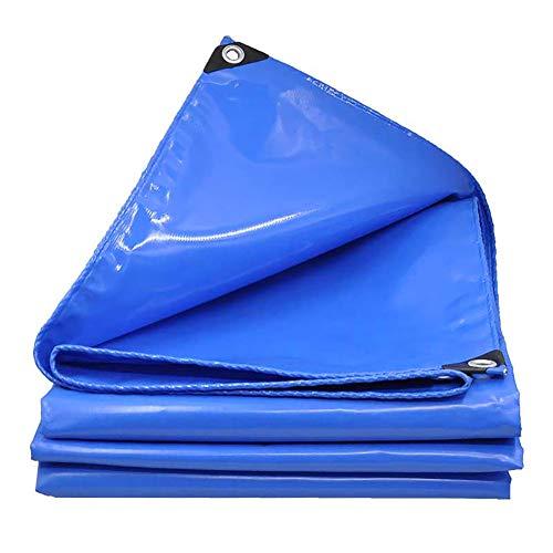 Beständig Laminat (LIUYUNY Poncho Hochleistungsplane, Hochdichtes Gewebtes PVC Und Doppeltes Laminat -600 / Quadratmeter Blau - 100% Wasserdicht Und UV-beständig (Size : 5x5M))