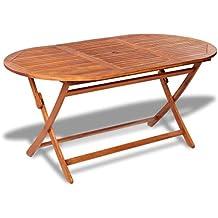 Tavolo In Legno Da Esterno Usato.Amazon It Tavoli Da Giardino In Legno
