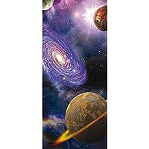 Türtapete Türposter Türfolie Erde Weltraum Planet Blau no 231