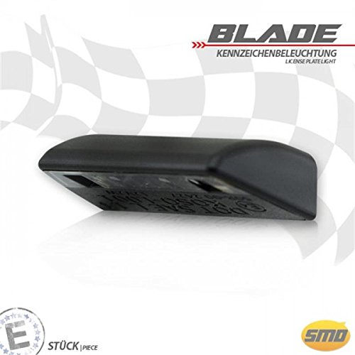 LED-Kennzeichenbeleuchtung Blade schwarz E-geprüft Universal Motorrad Roller Nummernschildbeleuchtung