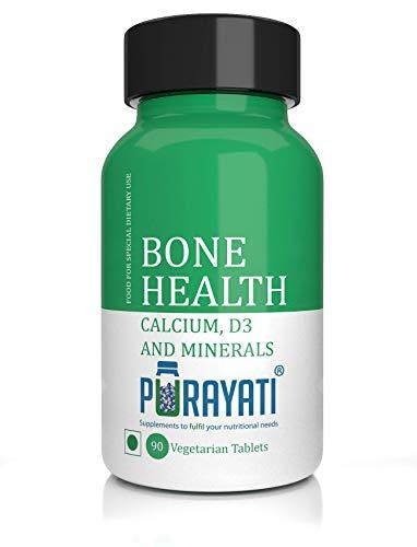 Purayati Bone Health Calcium D3 and Minerals Tablets - 90 Count
