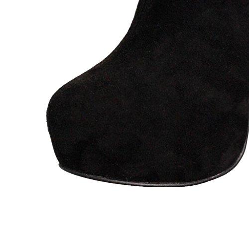 Bottines Imperméables À Talon Cheville Pour Femme Bottines Automne-hiver Bottes De Travail Bottes De Présentation Chaussures De Banquet Daim Artificiel 0709fd, A, B-37