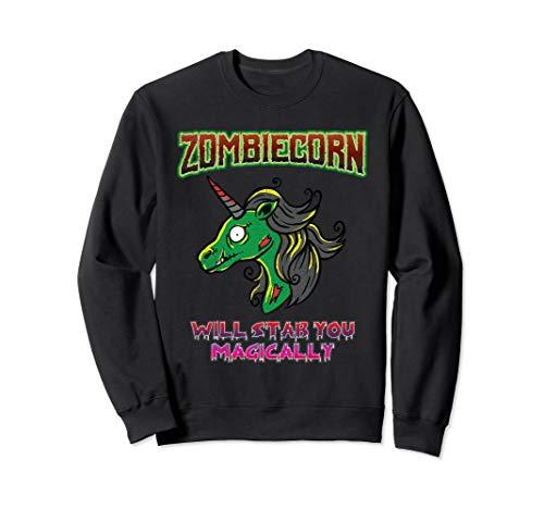 Zombie Einhorn Kostüm - Zombiecorn Zombie Unicorn Böses Einhorn Halloween Kostüm Sweatshirt