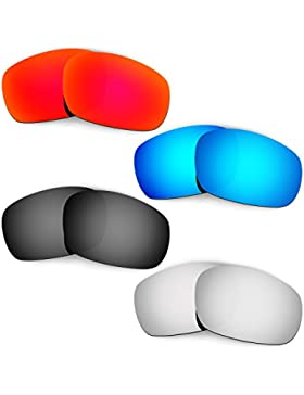 Hkuco Mens Replacement Lenses For Oakley Racing Jacket (Asian Fit) Red/Blue/Black/Titanium Sunglasses