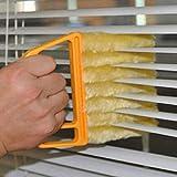 Wingbind Jalousien-Reiniger, Mikrofaser-abwaschbare Bürste Schneller Staubentferner Fenster-Lufttrockner Reinigung Schmutzreiniger für Fensterläden Klimaanlage