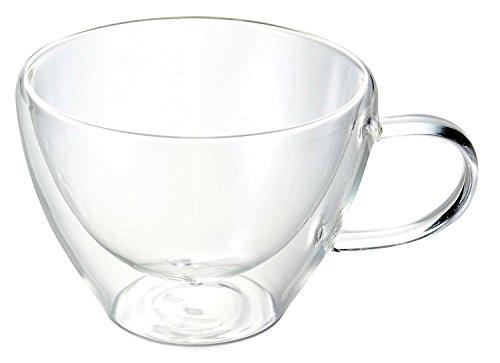 Luigi Bormioli 1442 doppelwandiges Borosilikatglas Cappuccino 385 ml, 2-er Set