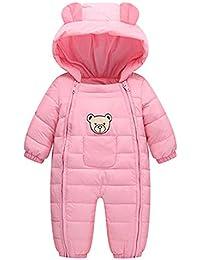 QinMM Neonato Bambino Ragazzi Ragazze Bambini Pagliaccetto Tuta Invernale  in Cotone Pesante con vestibilità Asciutta 79277e82d0a
