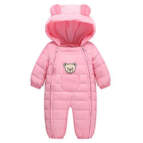 Yanhoo Baby Strampler Long Sleeve Candy Farbe Cartoon Verdickt Kapuzen Ohr Doppelkette Verdicken Overalls Baumwolle Strampelanzug Outerwear