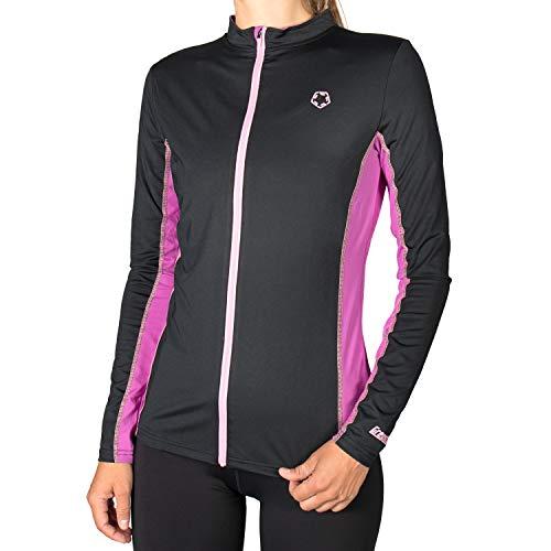 Gregster Damen Trainingsjacke leicht atmungsaktiv Laufjacke Longsleeve für draußen zum Überziehen